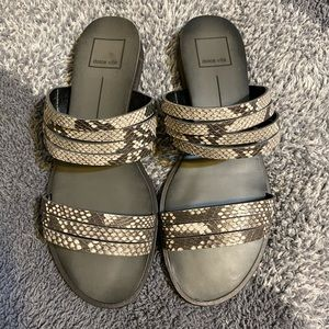 Dolce Vita Snake Slide Sandals